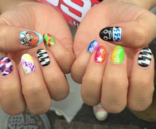 Gel nails I saw on my most recent trip to Tokyo
