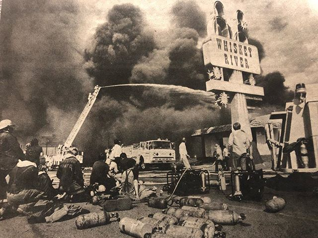 Fire at Whiskey River In Scottsdale, AZ | March 3rd 1982