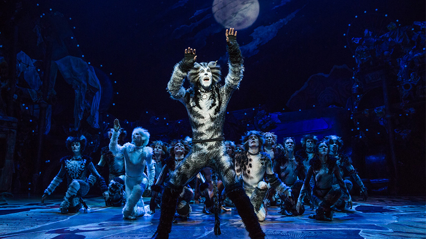 Andy Huntington Jones as Munkustrap in Broadway's revival of Cats.