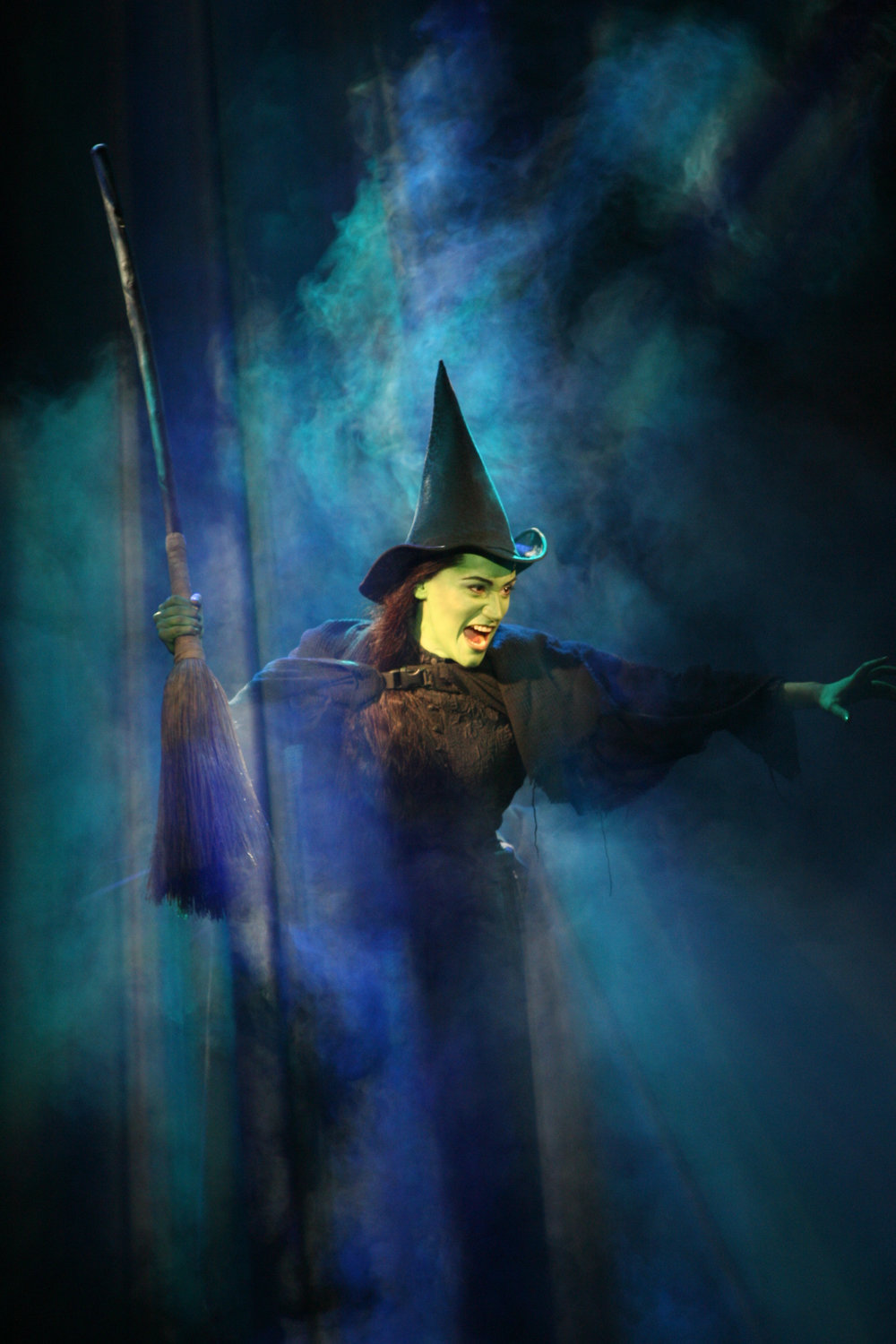 Eden Espinosa as Elphaba in Wicked.