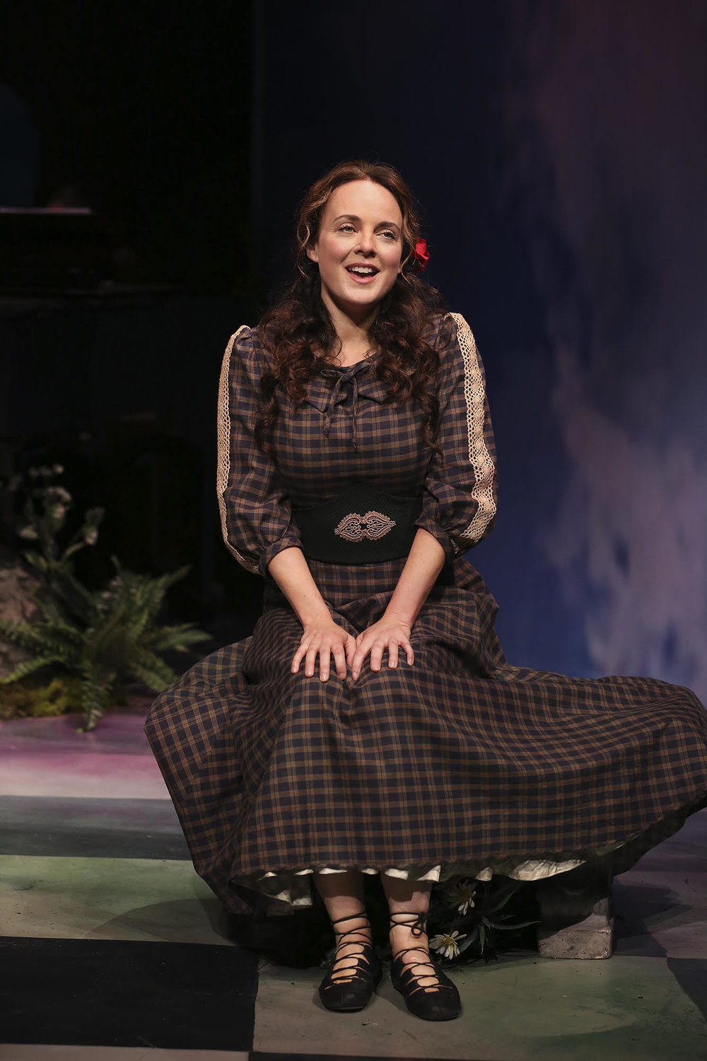 Melissa Errico as Sharon in Finian's Rainbow on the Irish Repertory Stage.