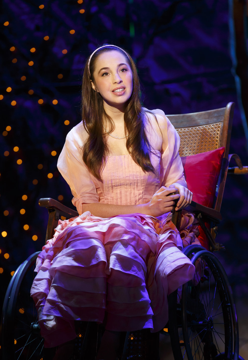 Jaime Rosenstein as Nessarose in Wicked