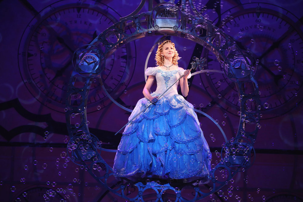 Ginna Claire Mason as Glinda in Wicked (Broadway). Photo by Joan Marcus.