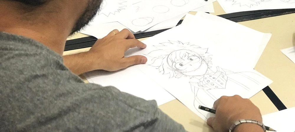 Curso Desenho de Mangá - Professora: Diego Penaforte
