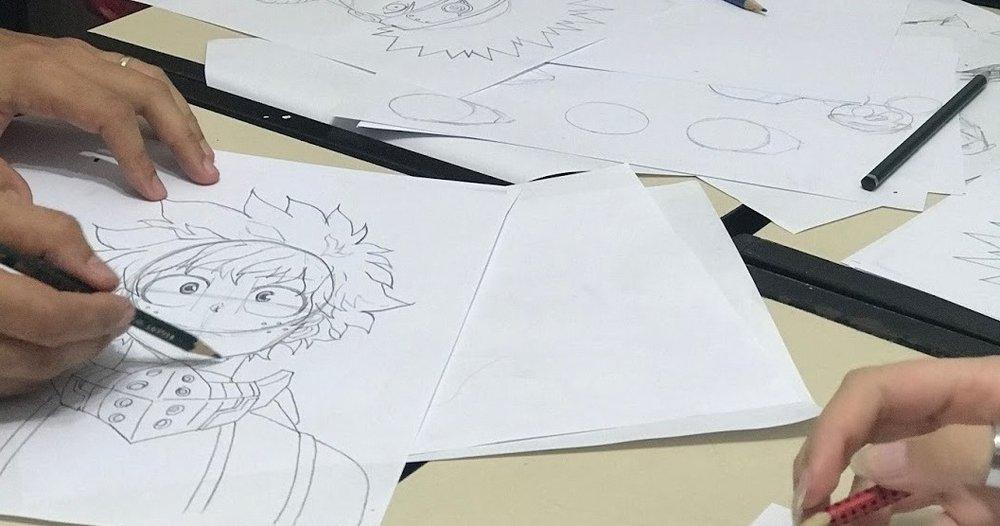 Desenho de Mangá    Vem aprender o estilo de desenho dos quadrinhos e animações japonesas.  Não perca tempo!    Saiba mais.