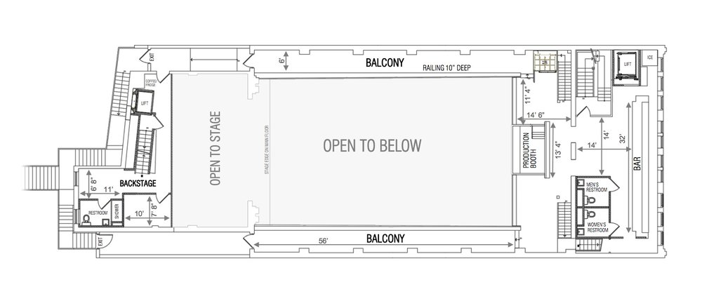White Eagle Hall Balcony Floor Plan - source: http://www.whiteeaglehalljc.com/about/