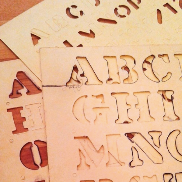 Vintage alphabet stencils from Analog