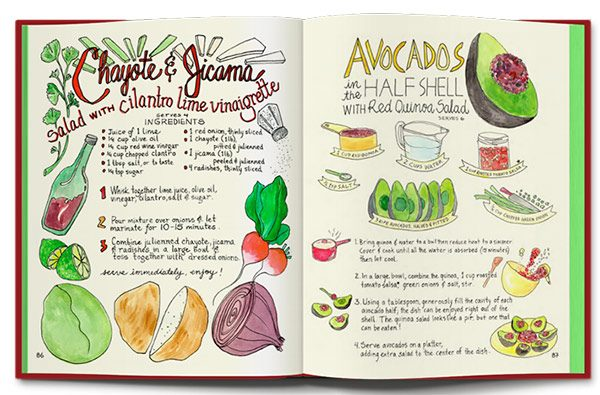 There are letters upon letters in the beautiful hand lettered recipes in  Marcella Kriebel's  illustration collection & cookbooks!
