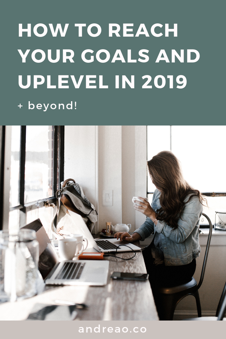 how to up level and Reach your goals in 2019 (+ beyond!) - pinterest.png