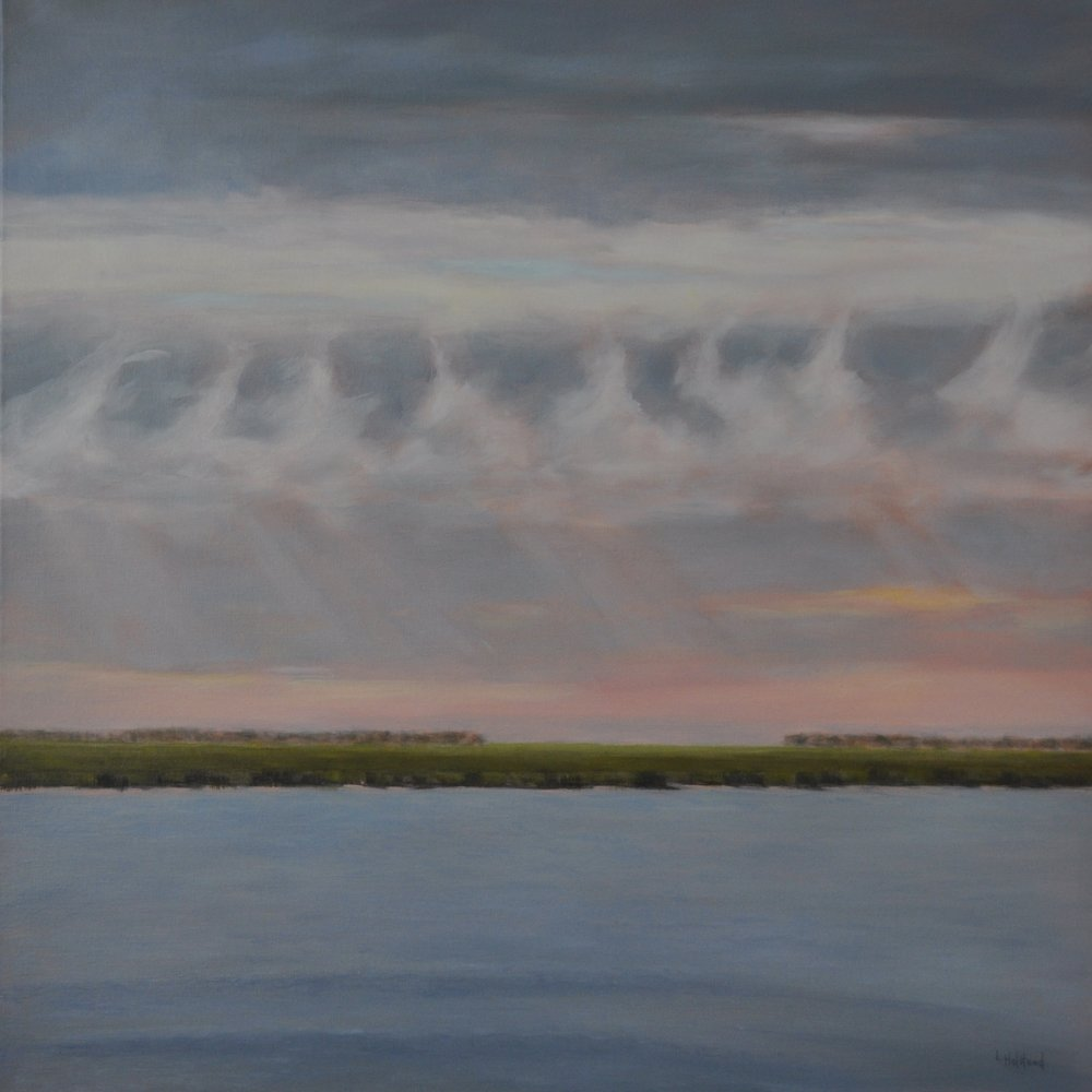 Cloud Waves, Oil on Linen, 30 x 30