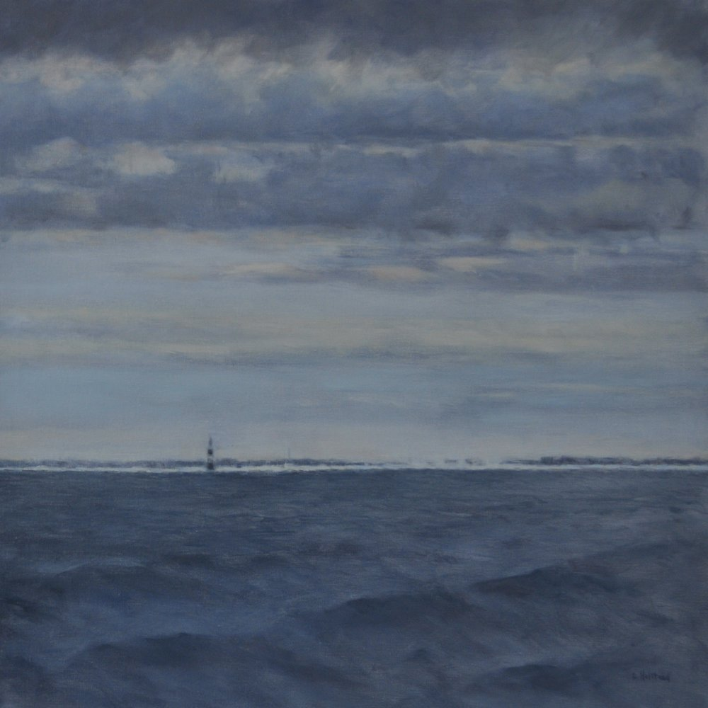 Mouth of the River Ahead, Oil on Linen, 30 x 30, available