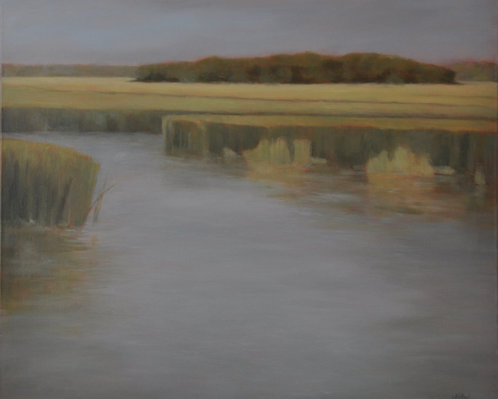 One Marsh Morning, Oil on Linen, 30 x 36, Available