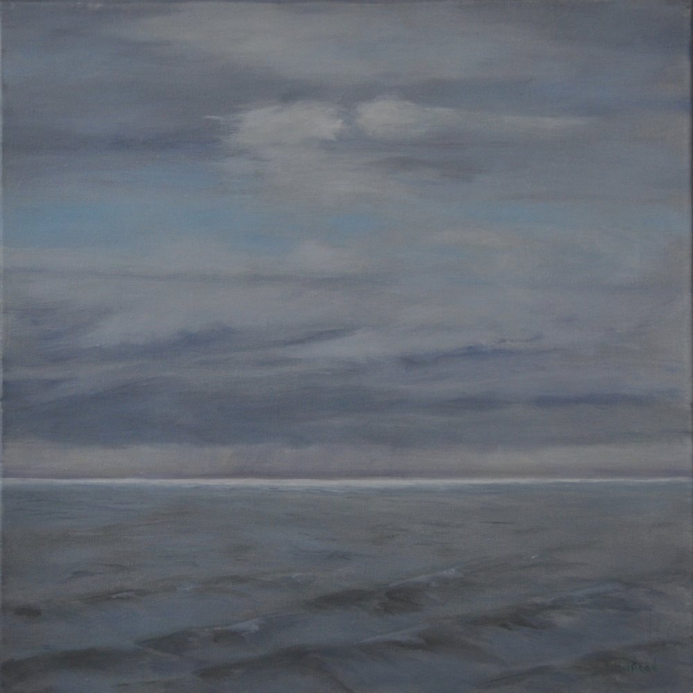 Silver Horizon, Oil on Linen, 14 x 14