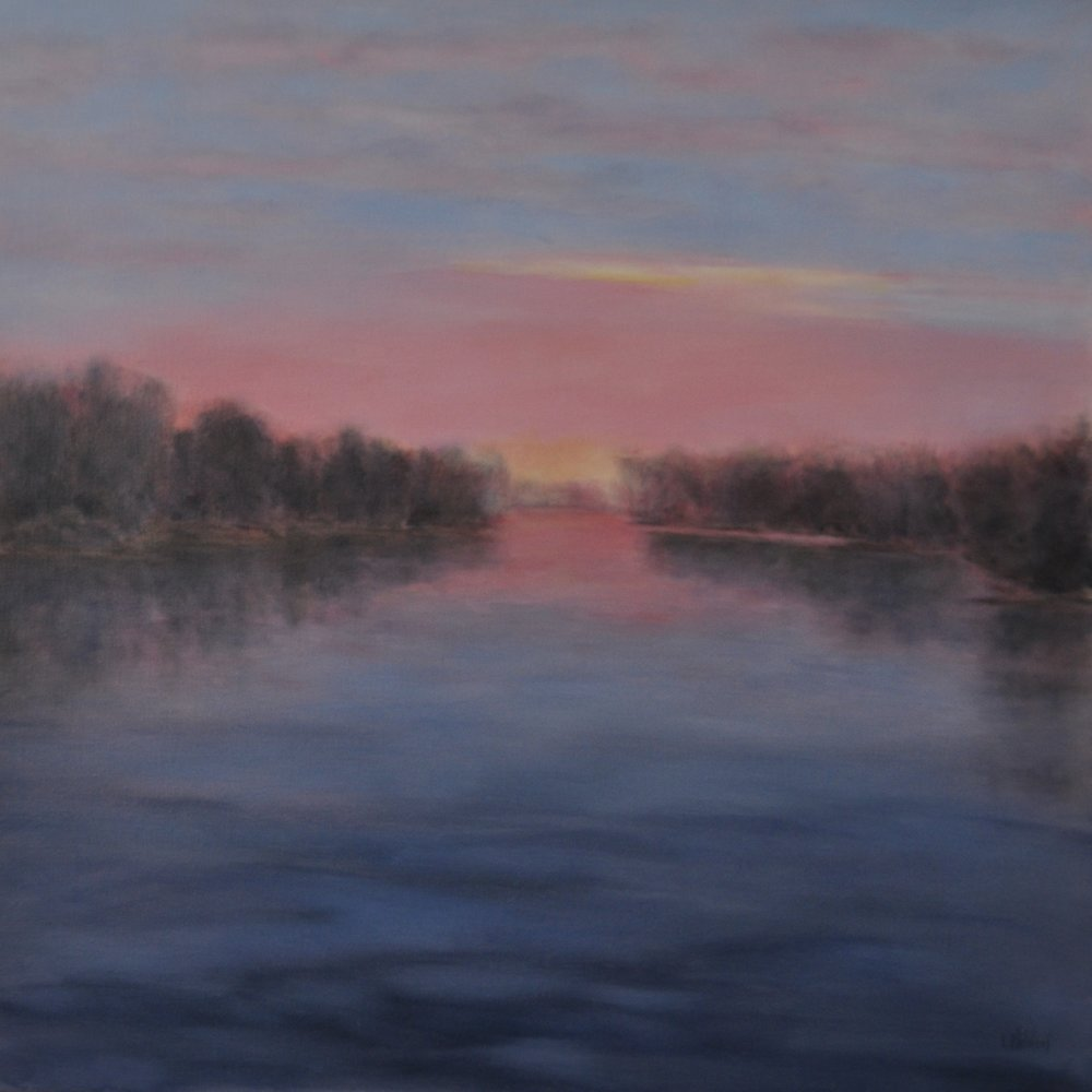 Evening's Invitation, Oil on Linen, 30 x 30, available
