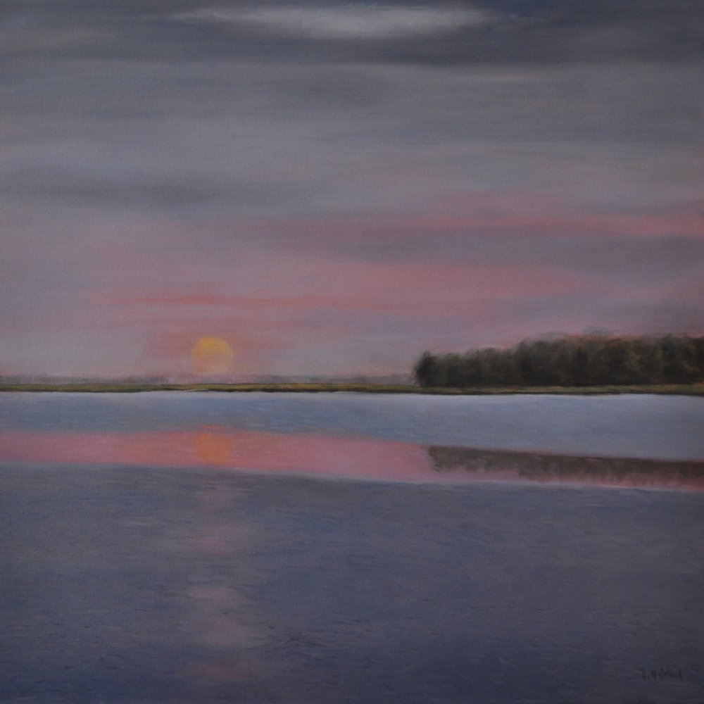 Summer, Very Early, Oil on Linen, 30 x 30, available