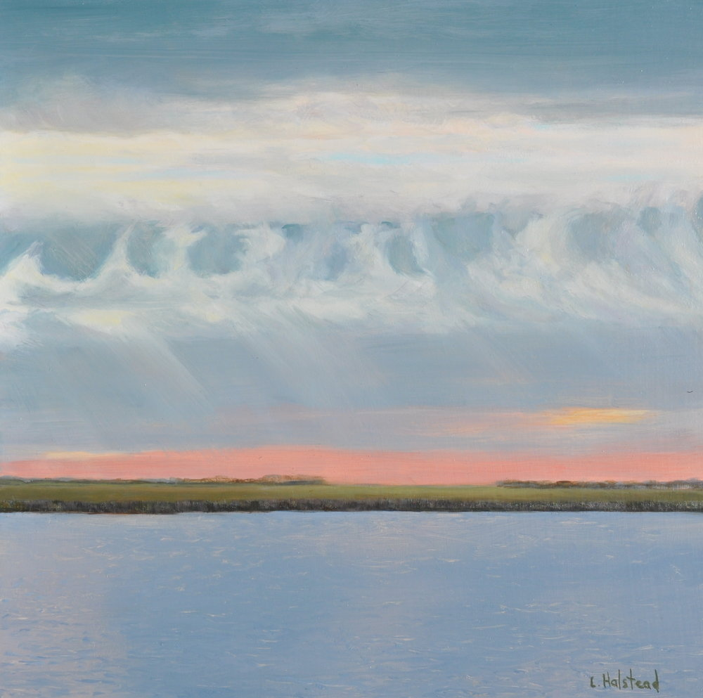 Light, Clouds, Water; Oil on Panel, 12 x 12, private collection