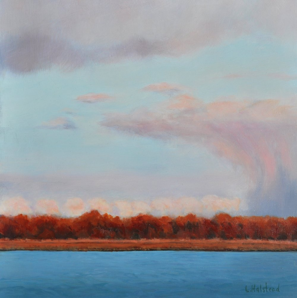 Storm's Passing, Oil on Panel, 12 x 12, private collection