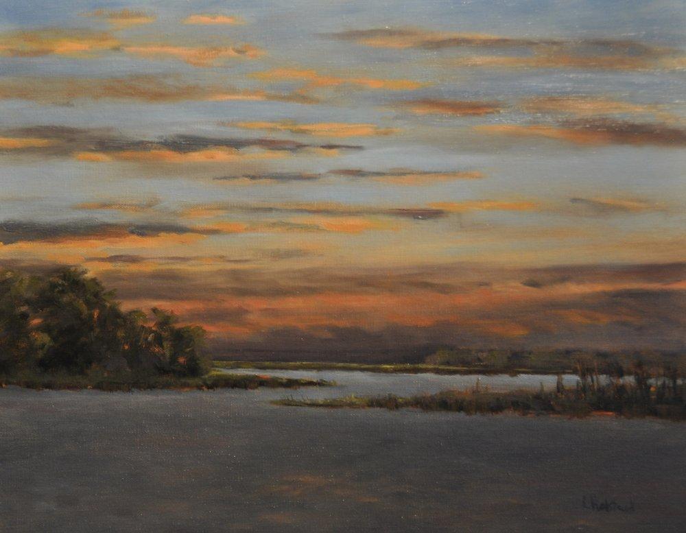 The Wind Stills, Oil on Linen, 11 x 14, sold