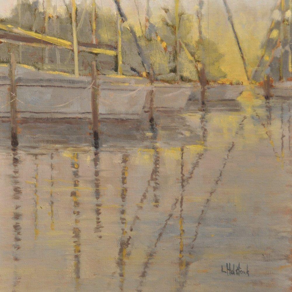 Warming Light, Oil on Linen, 8 x 8, sold