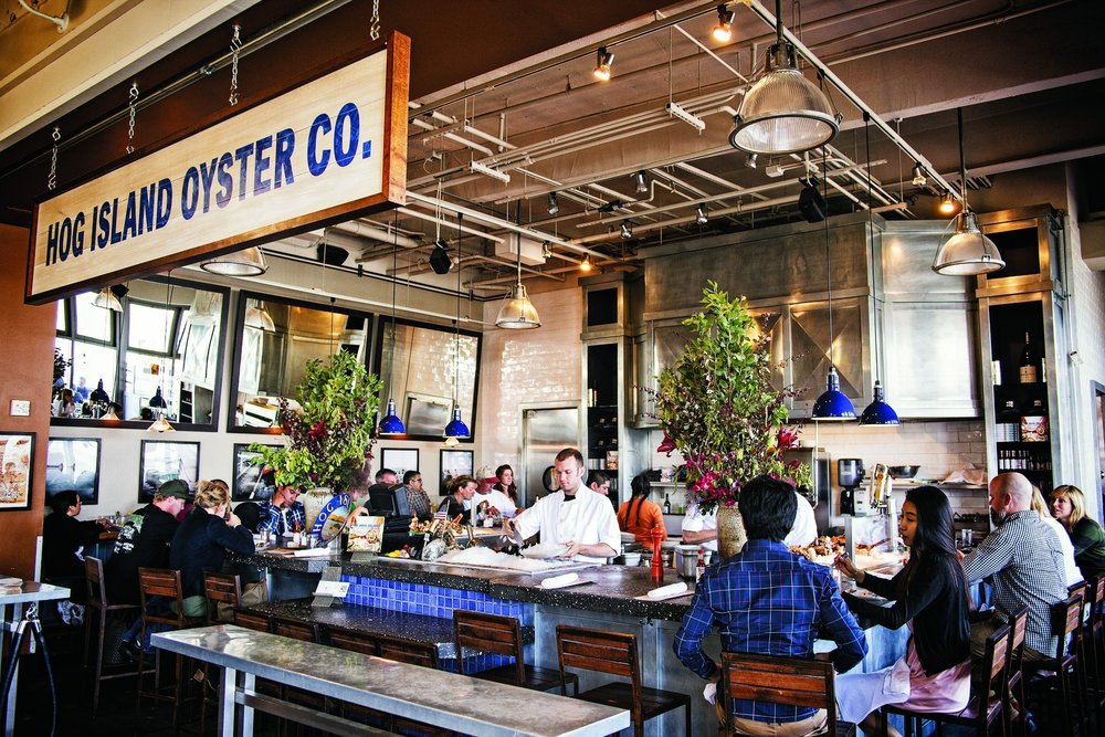 Hog Island Oyster Bar. Photo by  Voyger .