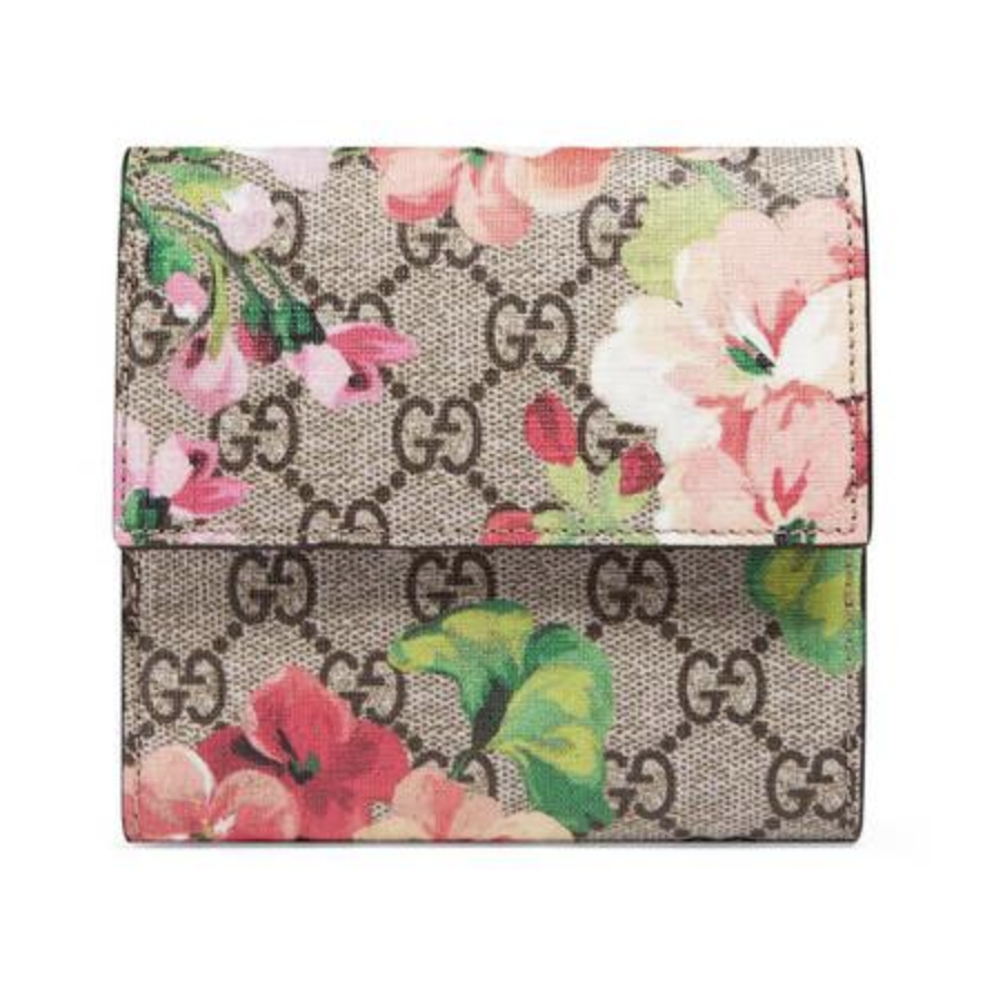GG Blooms French Flap Wallet