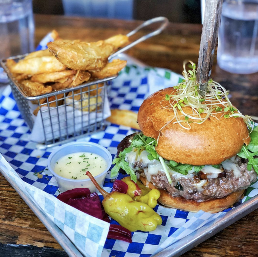 Photo by  @lizzzeats  of Kitchen Story's Millionaire's Burger