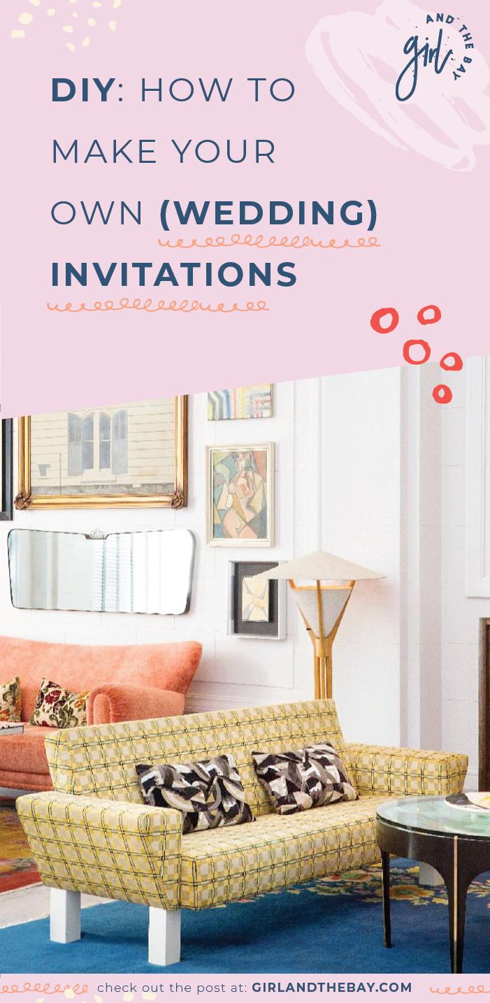 diy: make your own wedding invitations
