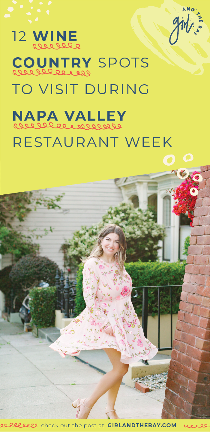 12 Wine Country Spots to Visit During Napa Valley Restaurant Week