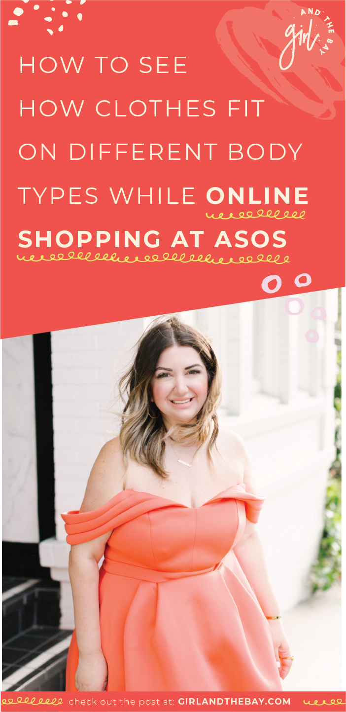 how to see how clothes fit on different body types while online shopping at asos