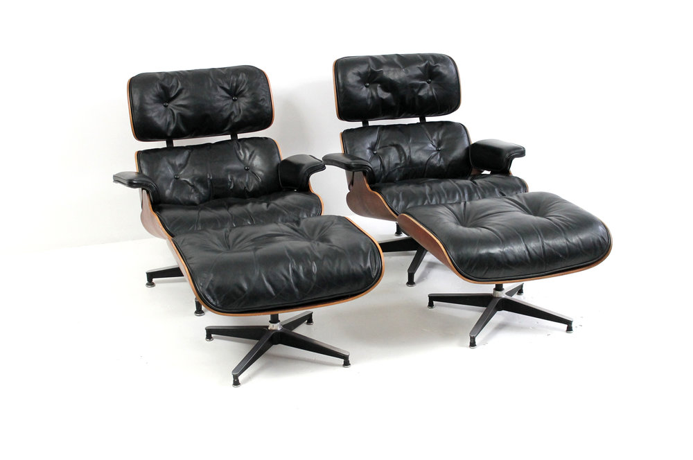 Restored Eames Lounge Cushions