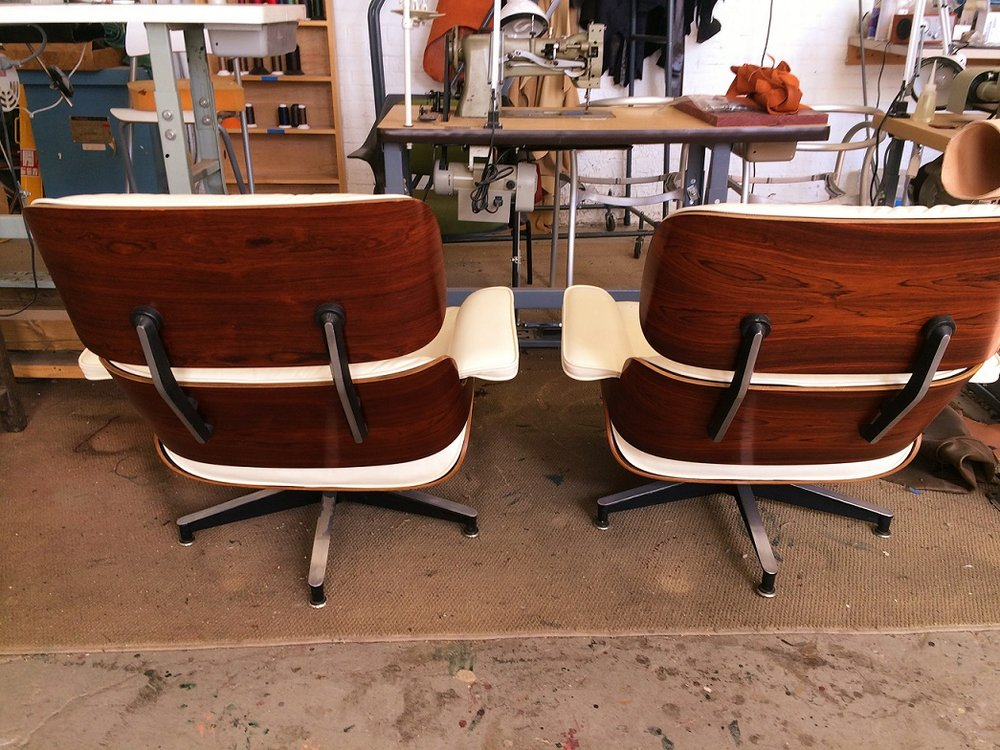 Matching restored Eames Lounge Rosewood