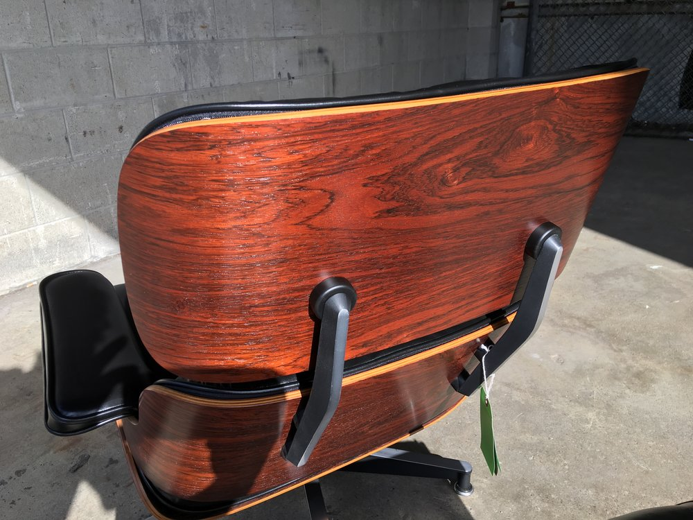 Refinished Rosewood on an Eames Lounge