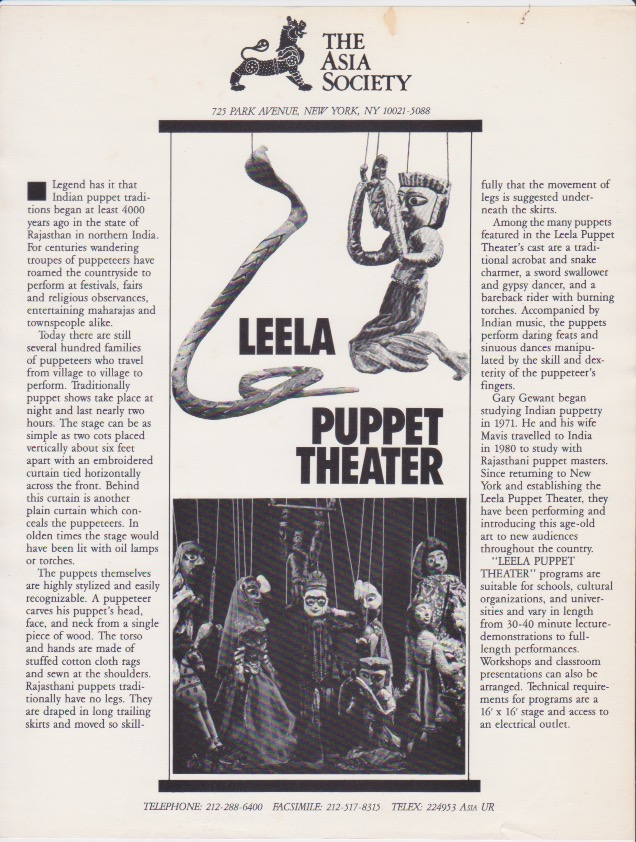 Gary Gewant Leela Puppet Theater Traditional Indian Marionette Shows 7.jpeg