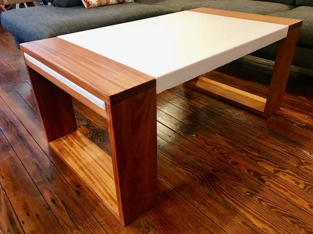(MODUSTRIAL GUEST BUILD) GORGEOUS AFRICAN MAHOGANY U0026 WHITE CONCRETE COFFEE  TABLE   WHY YOU SHOULDNu0027T BE AFRAID TO TRY GFRC U2014 Modustrial Maker
