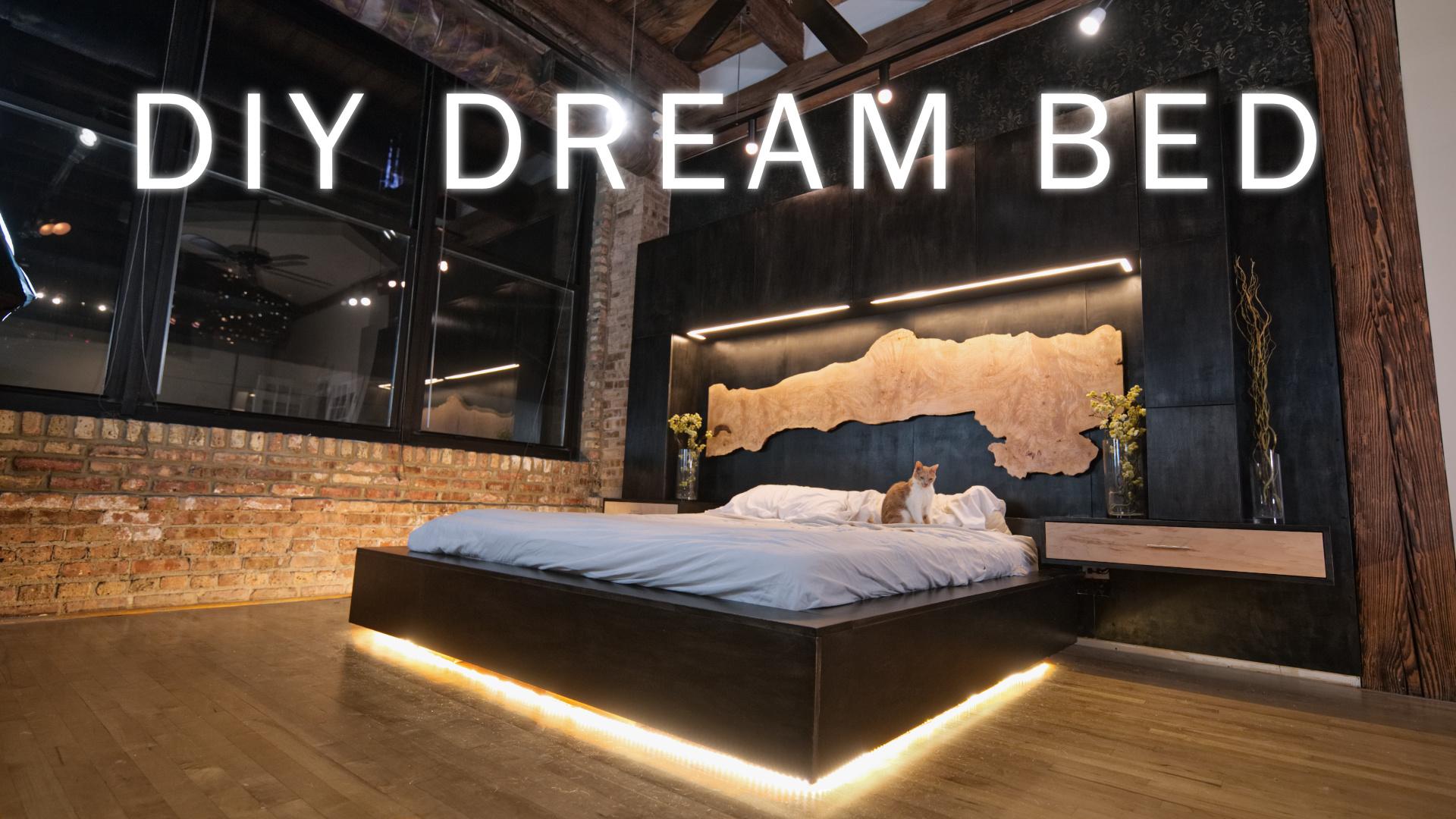 Diy Dream Bed Modern Bedroom Renovation For My Loft Woodworking Modustrial Maker