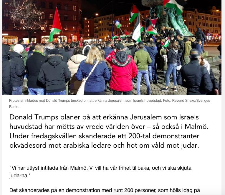 Skärmdump från Sveriges Radios  hemsida .