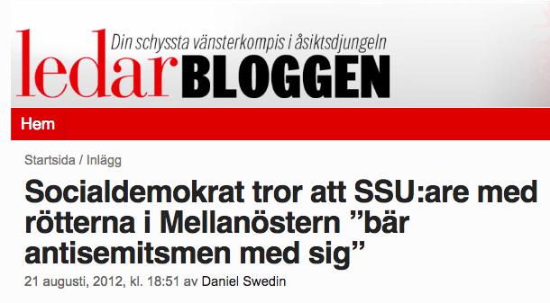 """Källa  Aftonbladet Ledarbloggen.  """"Din schyssta vänsterkompis i åsiktsdjungeln!"""" är en riktig bff och tycker du ska blunda för vad som händer i Malmö."""