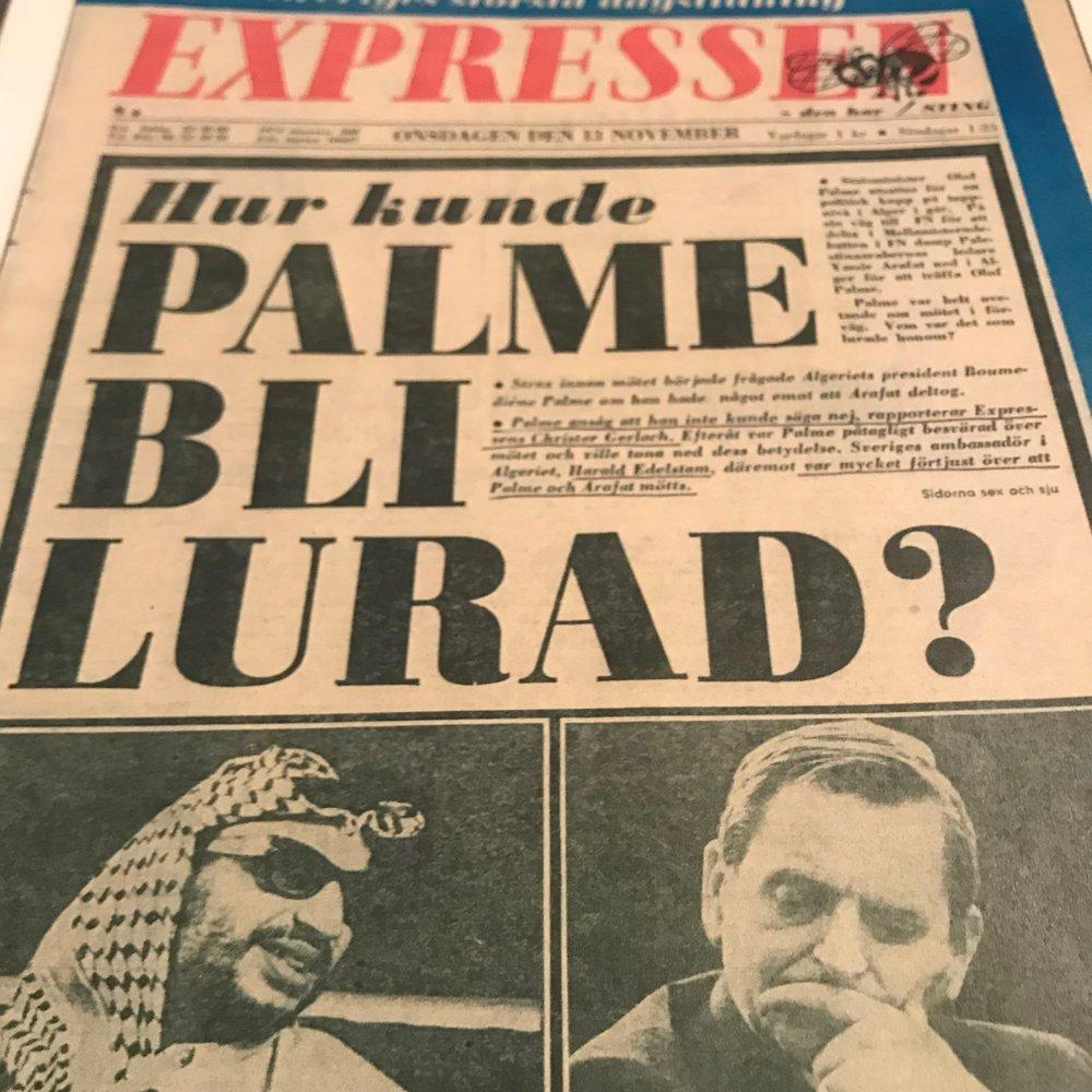 Expressen onsdagen 13 november 1974