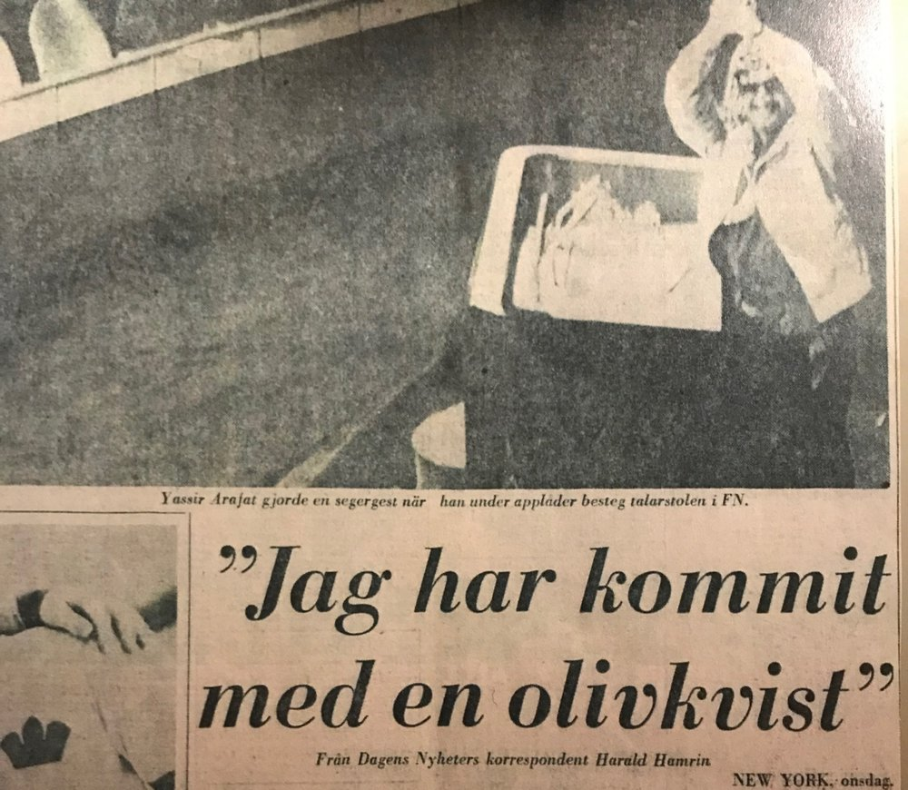 Arafat Olivkvisttalet Dagens Nyheter.JPG