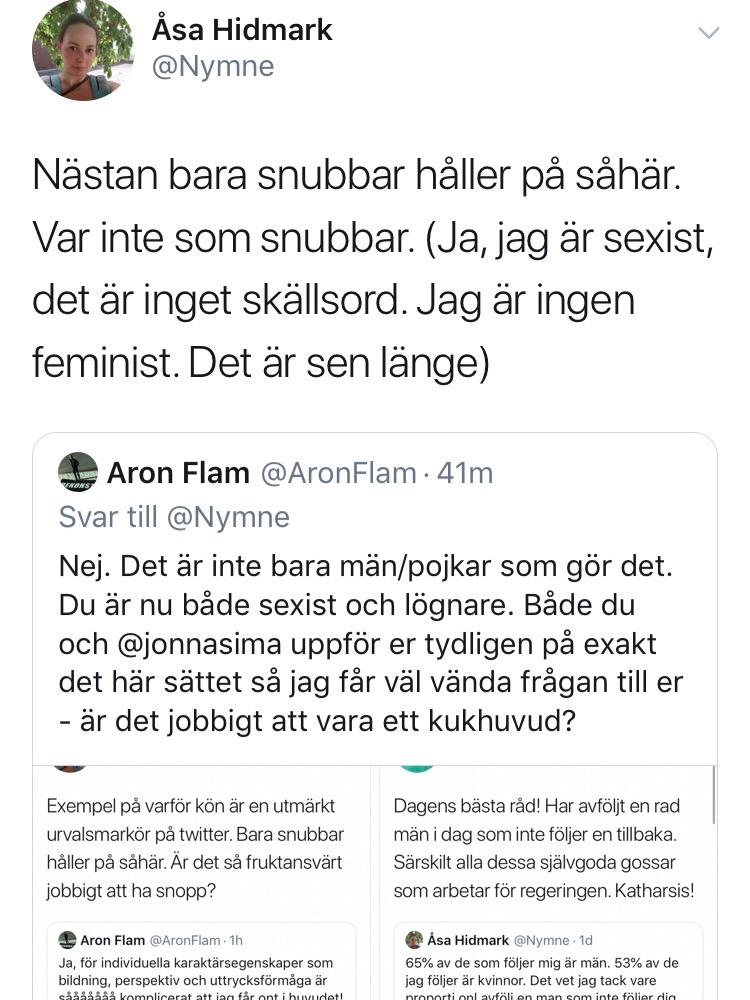 Åsa goes full sexist härnäst…