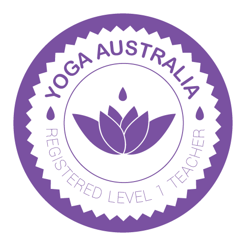 Yoga Australia Registered Level 1 Teacher Logo