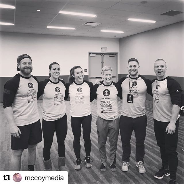 Big thanks to all the elite athletes who helped make this year's Classic a success!  #Repost @mccoymedia with @get_repost ・・・ Filming fitness with these fit fools for the @roguewinterclassic #finess #roguewinterclassic #crossfit