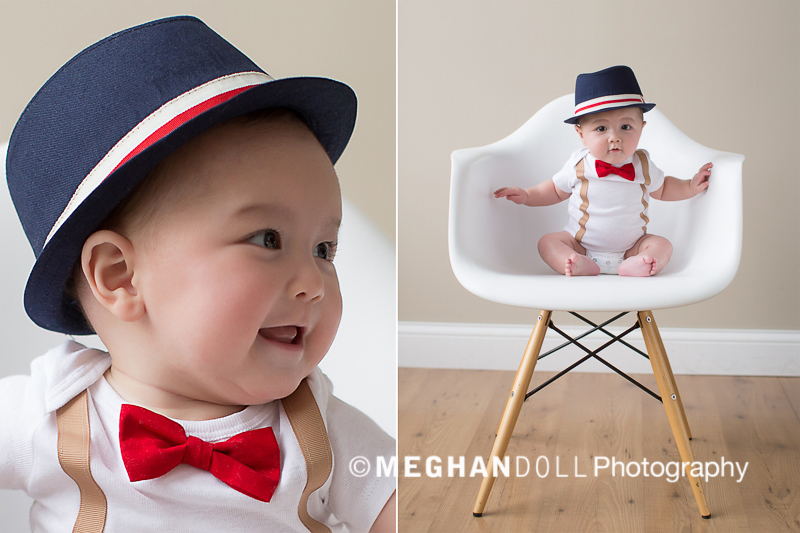 baby, fedora, bow tie...too cute.