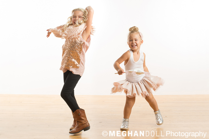 Adorable little girls dancing their hearts out!