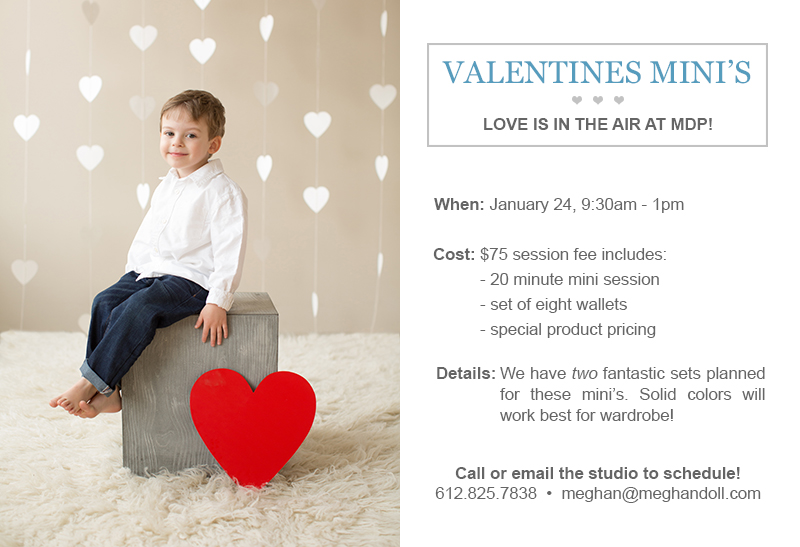 Valentines Mini Sessions at Meghan Doll Photography