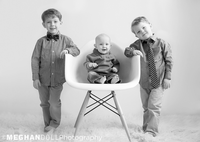 three silly little brothers hang out together acting like big boys