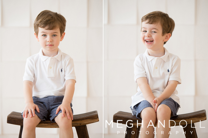 cute-little-toddler-boy-on-stool-looks-serious-and-giggles