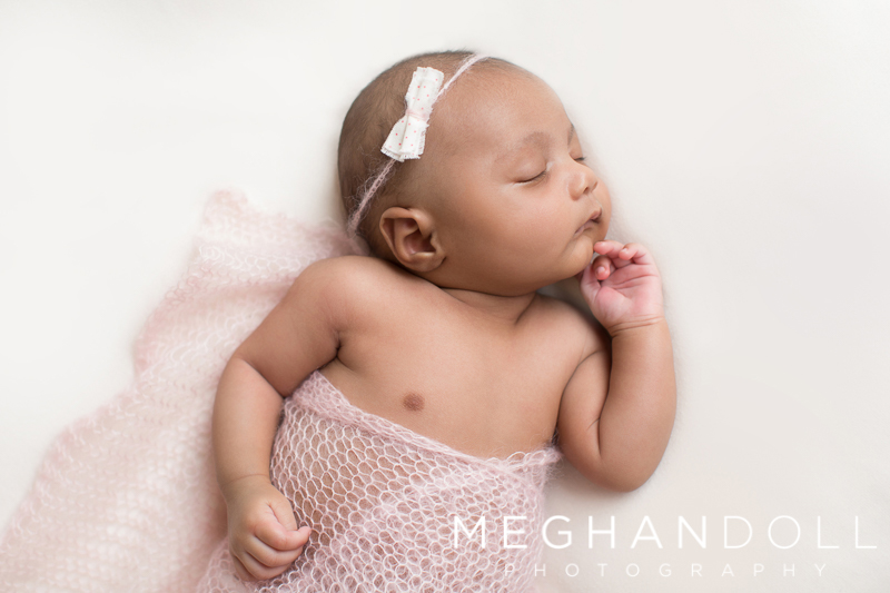 sweet-twin-newborn-girl-in-pink