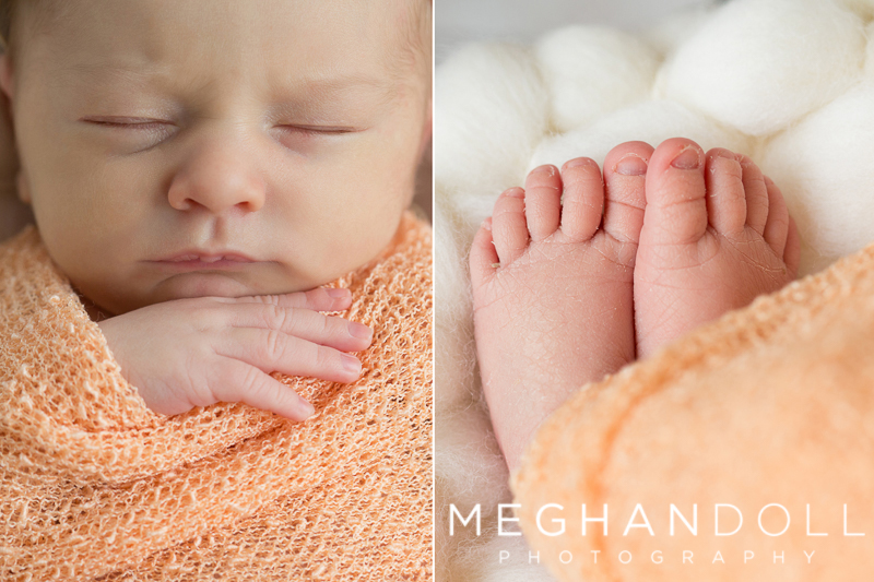 details-of-newborn-girl-in-orange