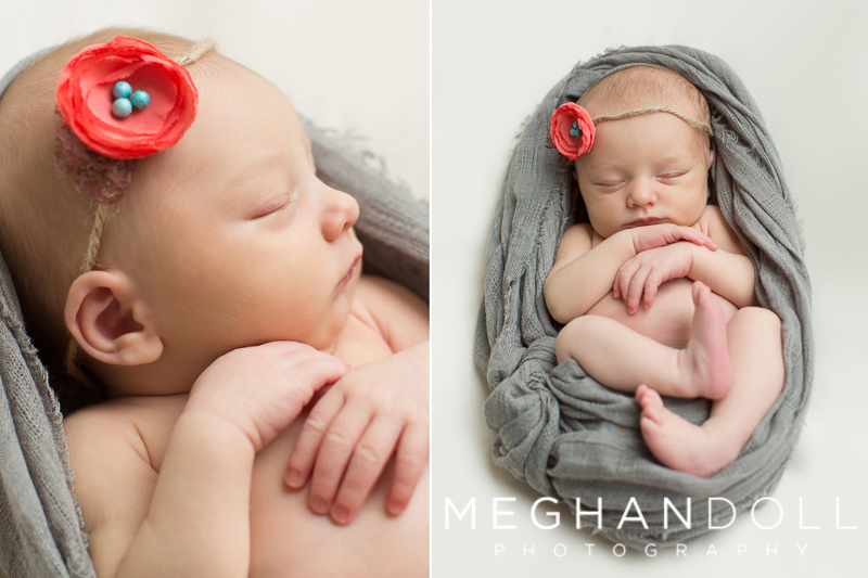 newborn-girl-wrapped-in-gray-with-nest-headband